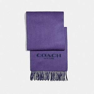 Coach Violet Double Faced Muffler Scarf